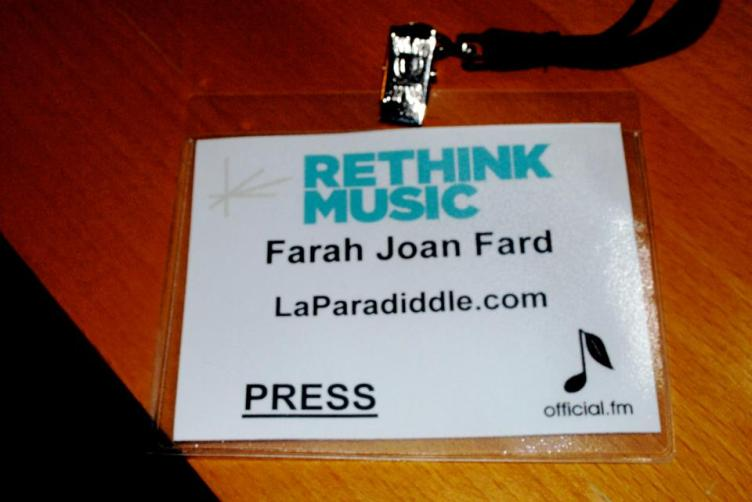 Having a press pass for my own blog, and not for someone else's site, was a plus.