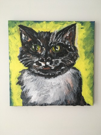 12x12 acrylic and oil on canvas
